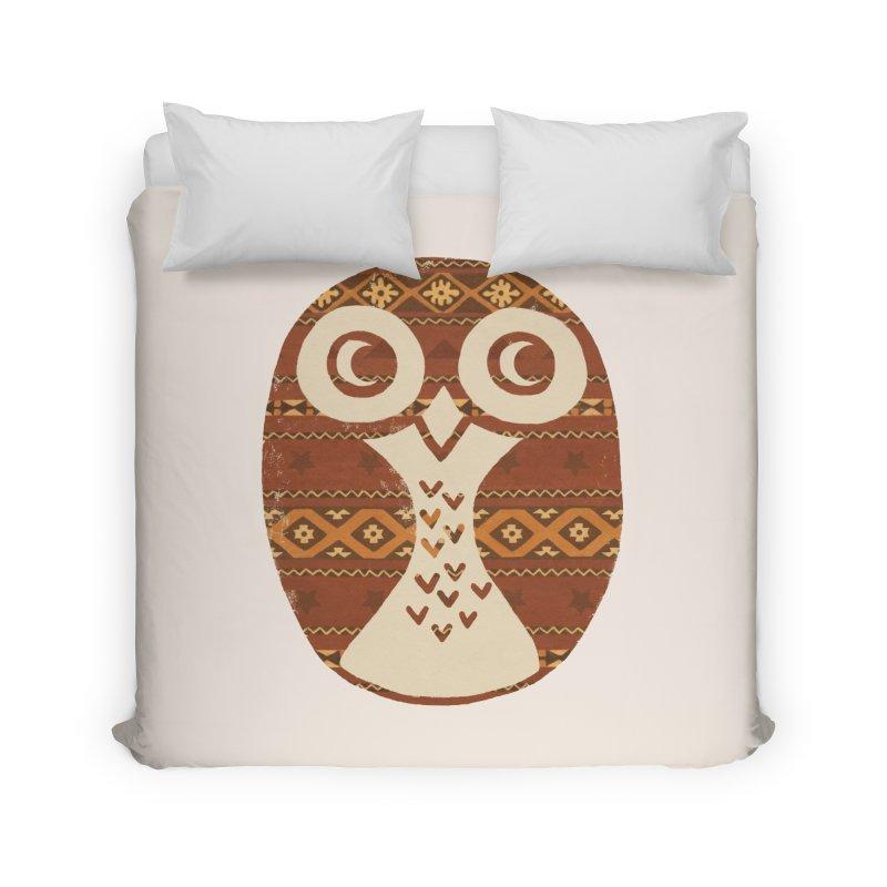 Navajo Owl Home Duvet by terryfan