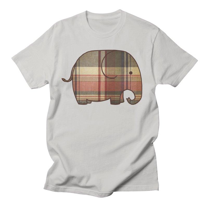 Plaid Elephant Men's T-Shirt by terryfan