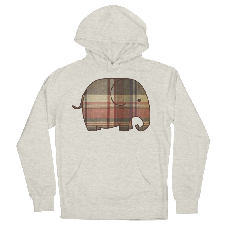 Plaid Elephant Women's Pullover Hoody by terryfan