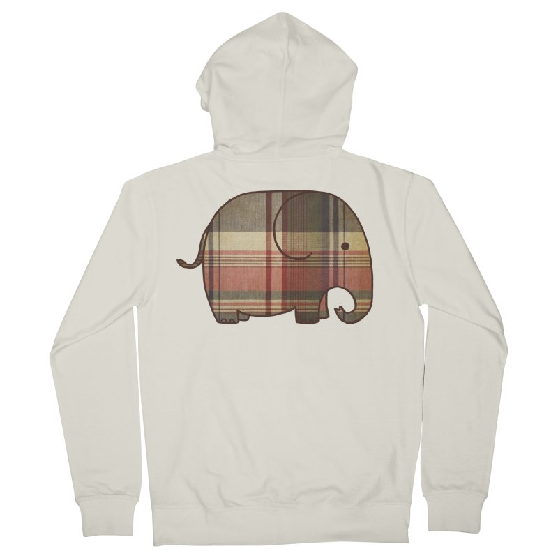 Plaid Elephant Women's French Terry Zip-Up Hoody by terryfan