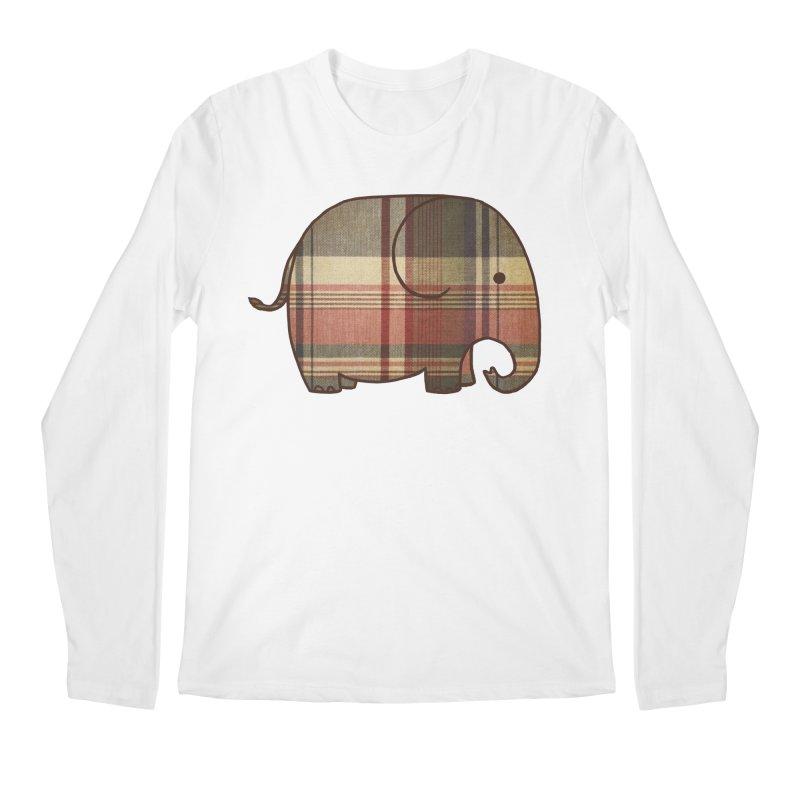 Plaid Elephant Men's Longsleeve T-Shirt by terryfan