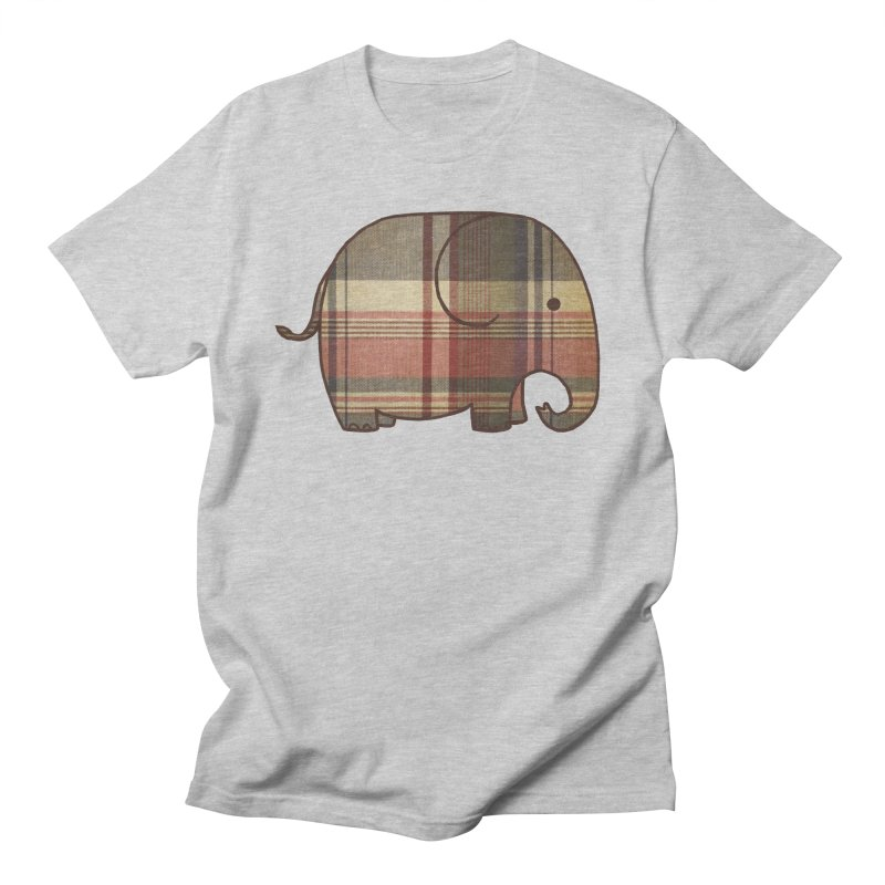 Plaid Elephant Men's T-Shirt by terryfan
