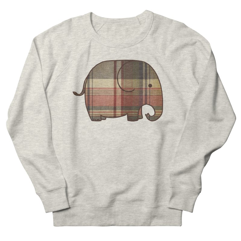 Plaid Elephant Women's Sweatshirt by terryfan