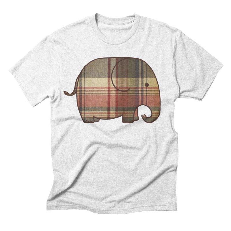 Plaid Elephant Men's Triblend T-shirt by terryfan