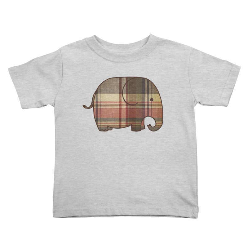 Plaid Elephant Kids Toddler T-Shirt by terryfan