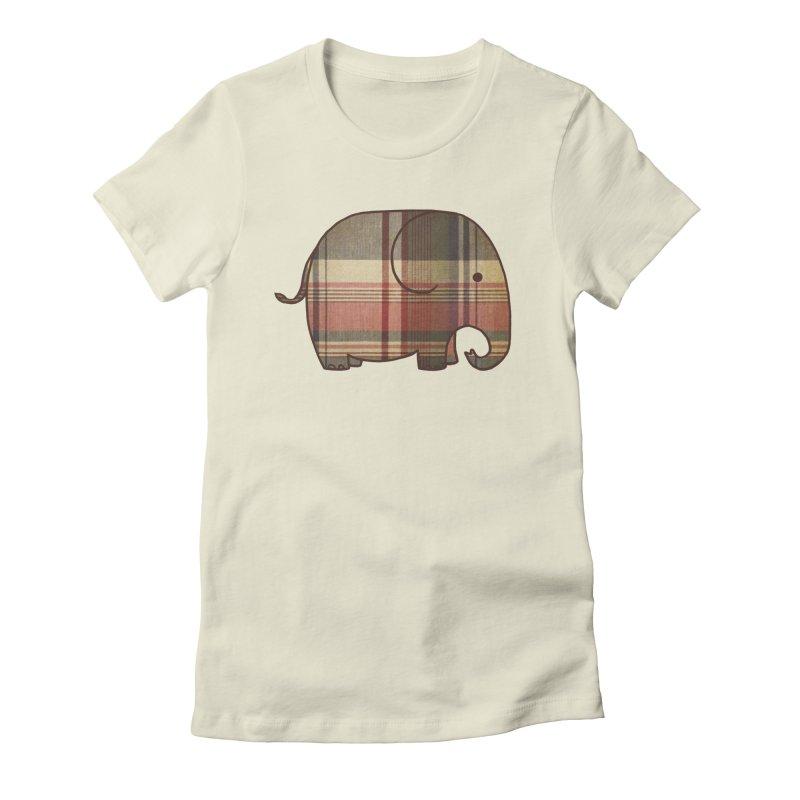 Plaid Elephant Women's T-Shirt by terryfan