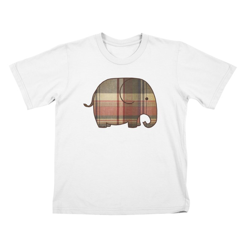 Plaid Elephant Kids T-shirt by terryfan