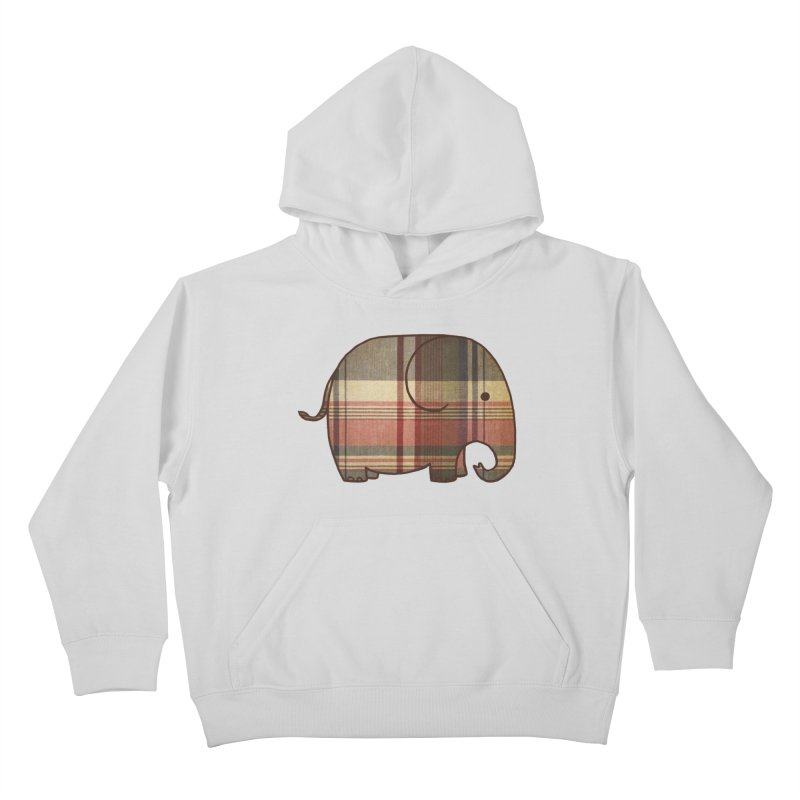 Plaid Elephant Kids Pullover Hoody by terryfan