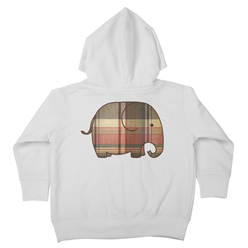 Plaid Elephant Kids Toddler Zip-Up Hoody by terryfan