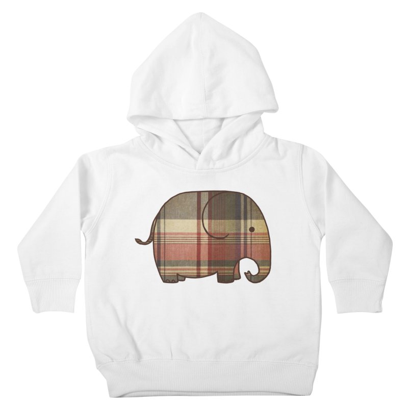 Plaid Elephant Kids Toddler Pullover Hoody by terryfan