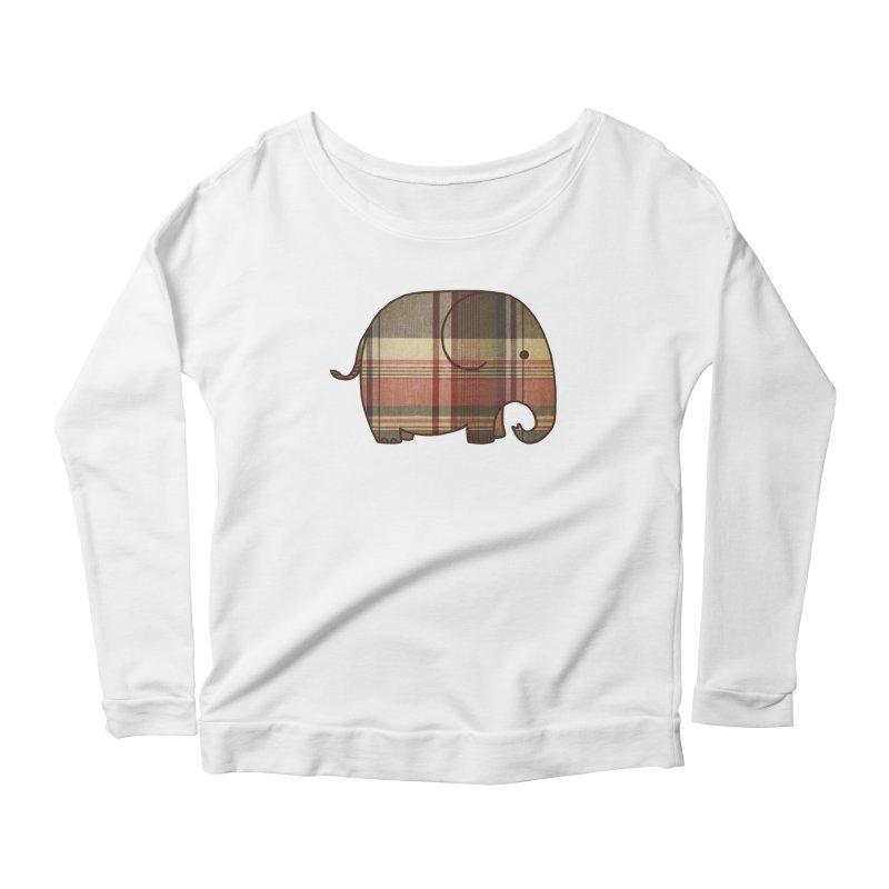 Plaid Elephant Women's Scoop Neck Longsleeve T-Shirt by terryfan
