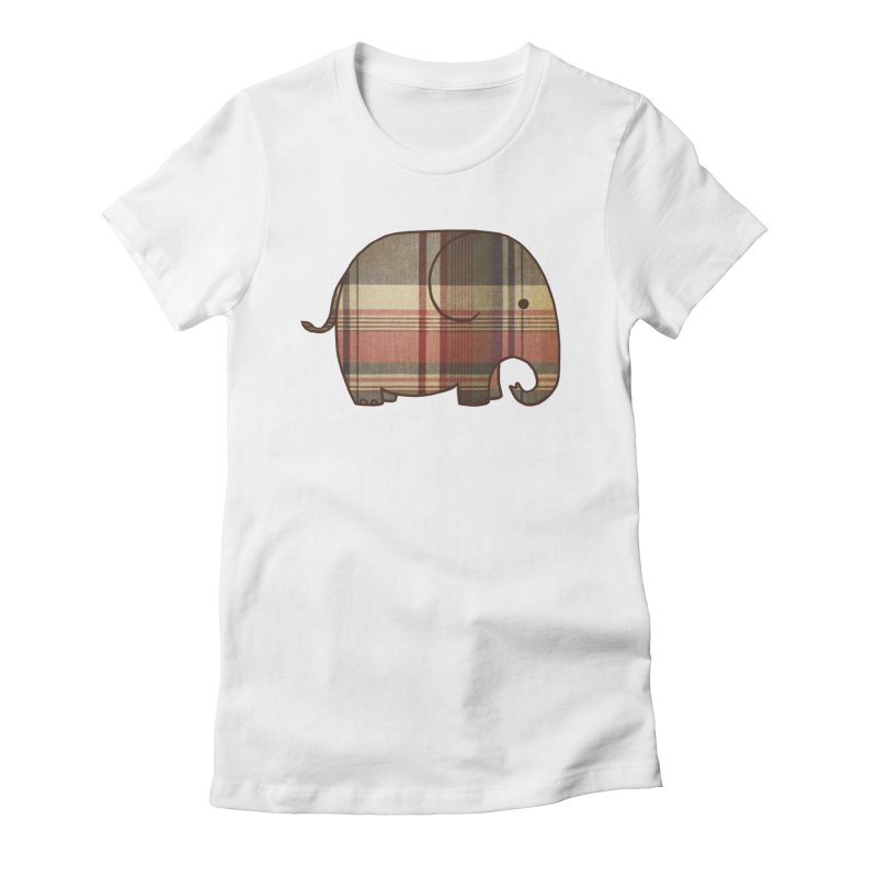 Plaid Elephant Women's Fitted T-Shirt by terryfan
