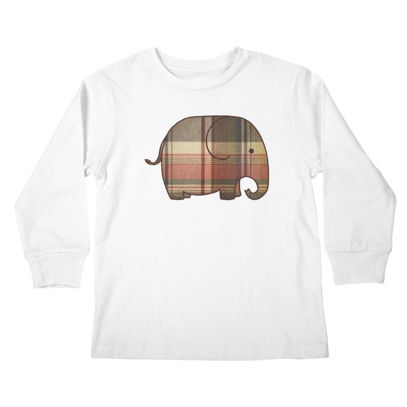 Plaid Elephant Kids Longsleeve T-Shirt by terryfan