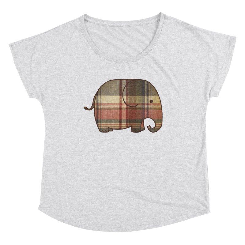 Plaid Elephant Women's Scoop Neck by terryfan