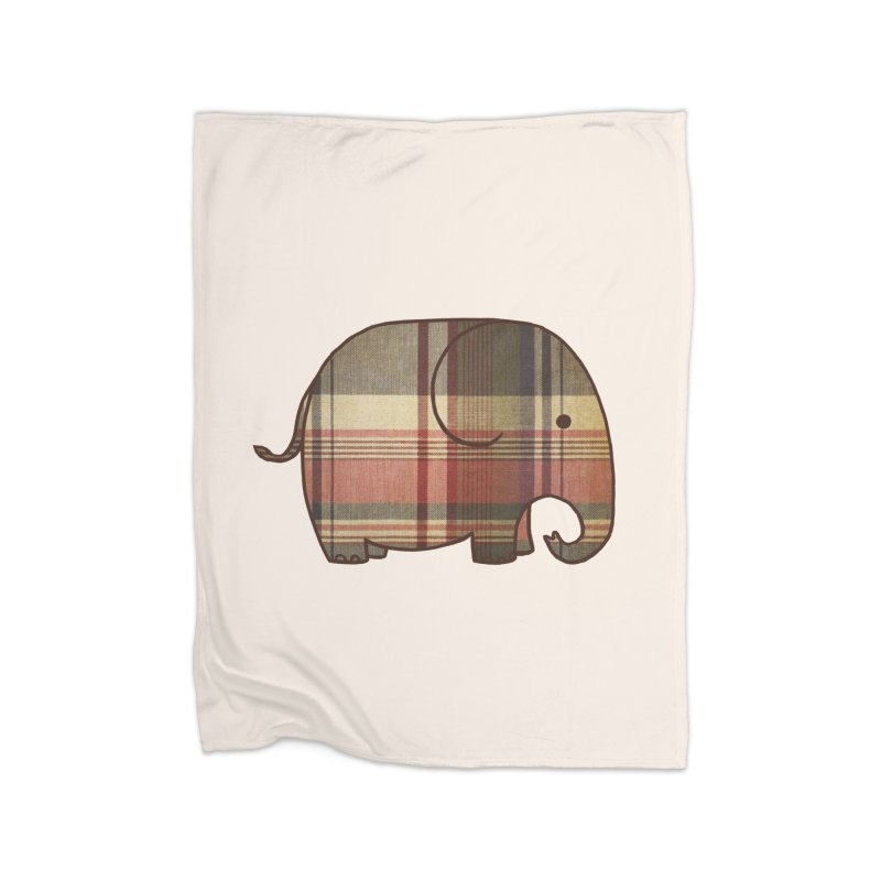 Plaid Elephant Home Blanket by terryfan