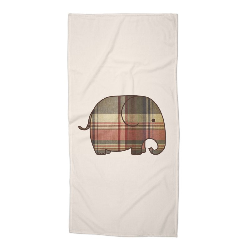 Plaid Elephant Accessories Beach Towel by terryfan