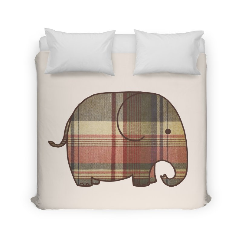 Plaid Elephant Home Duvet by terryfan