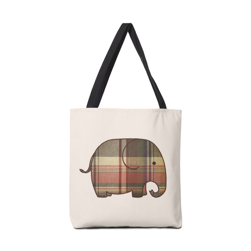 Plaid Elephant Accessories Bag by terryfan