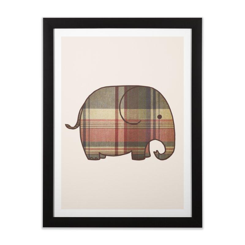 Plaid Elephant Home Framed Fine Art Print by terryfan