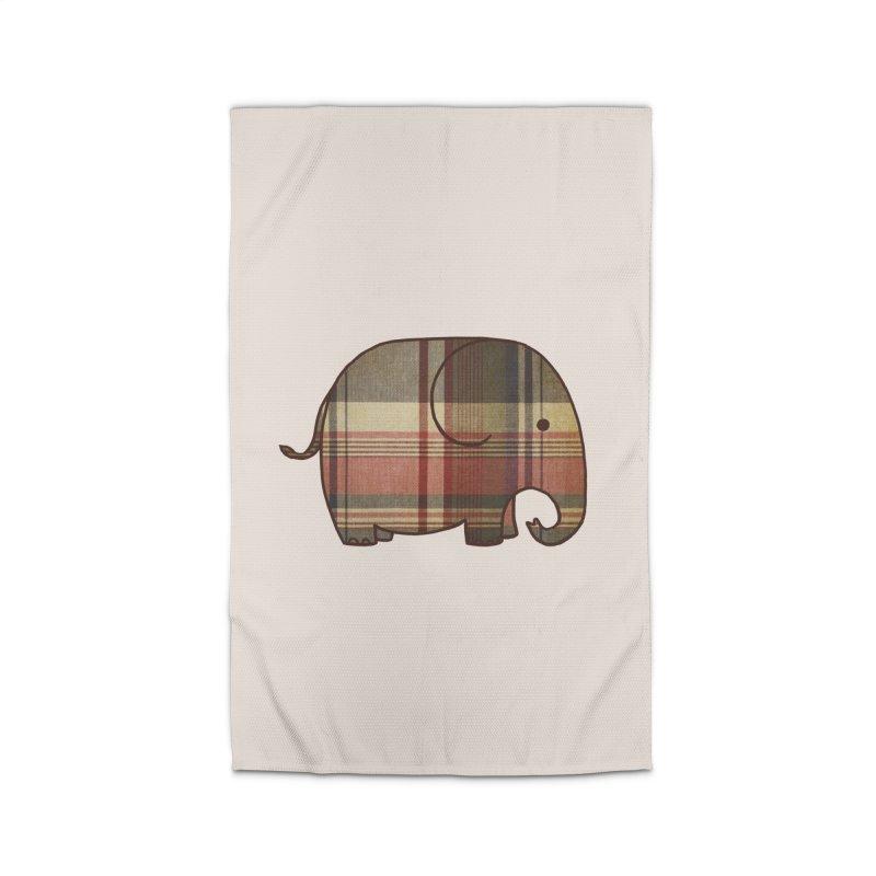 Plaid Elephant Home Rug by terryfan