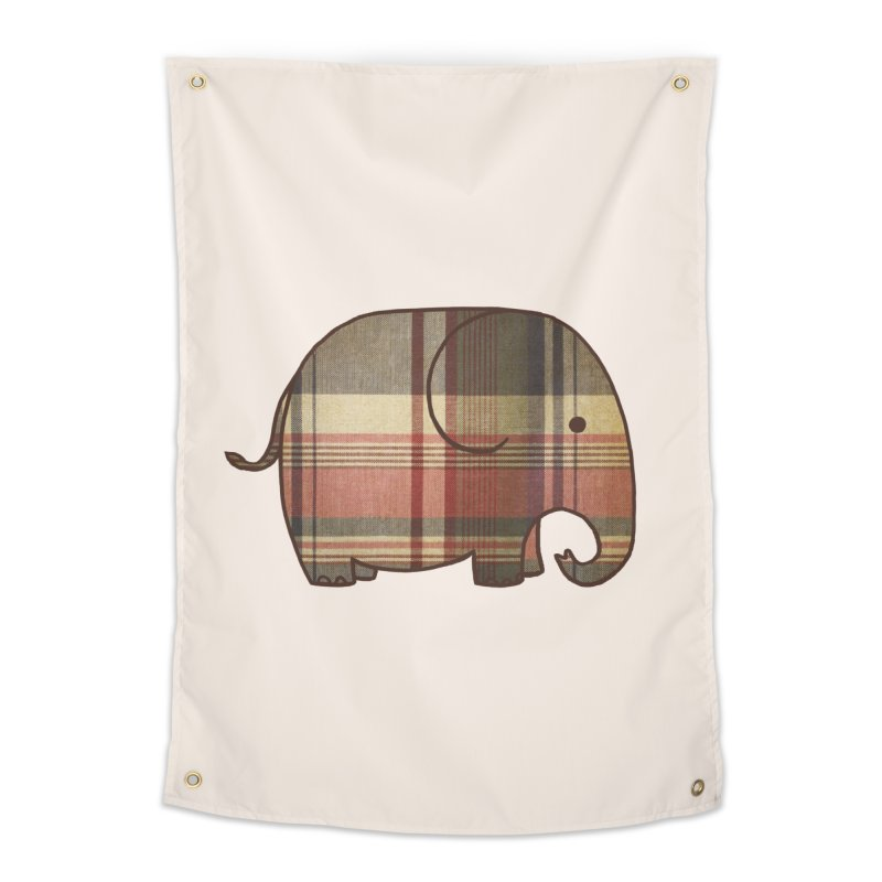 Plaid Elephant Home Tapestry by terryfan