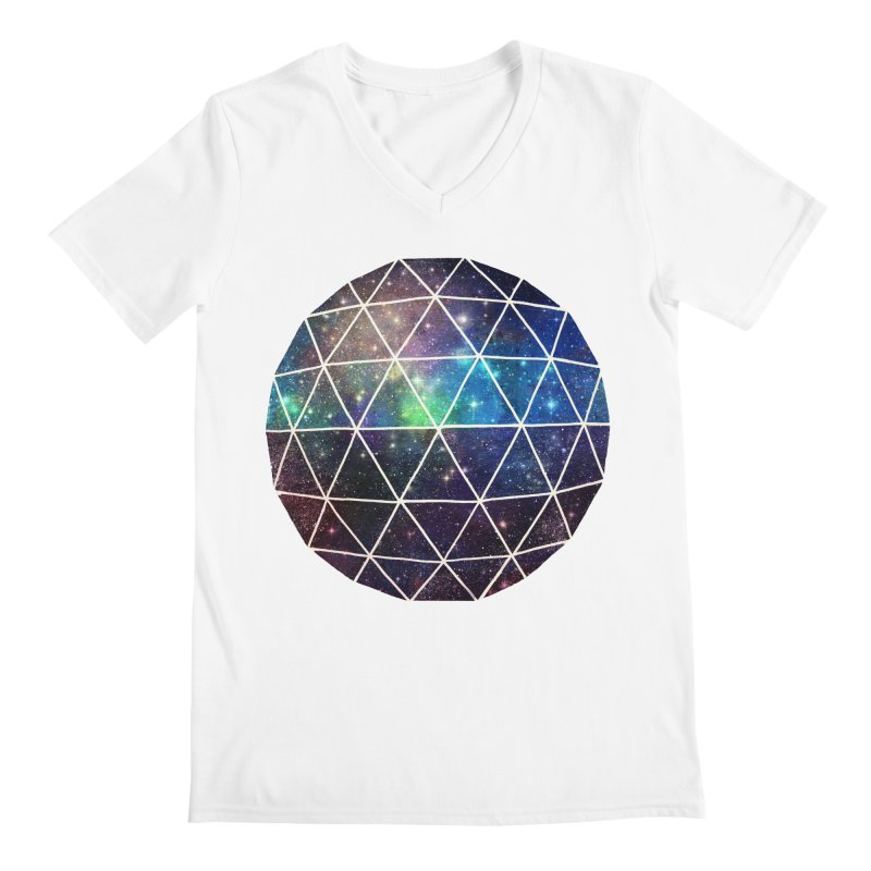 Space Geodesic Men's V-Neck by terryfan