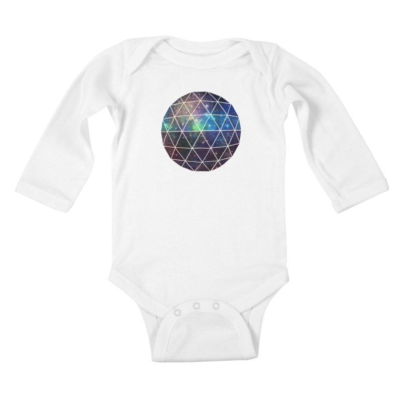 Space Geodesic Kids Baby Longsleeve Bodysuit by terryfan