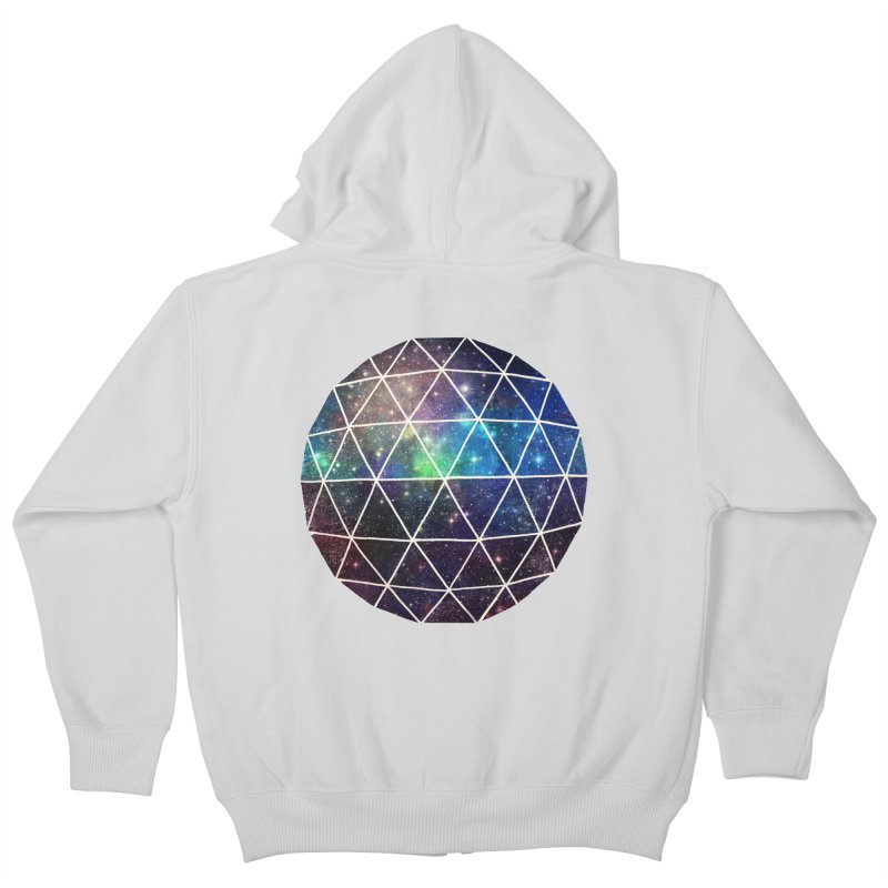 Space Geodesic Kids Zip-Up Hoody by terryfan