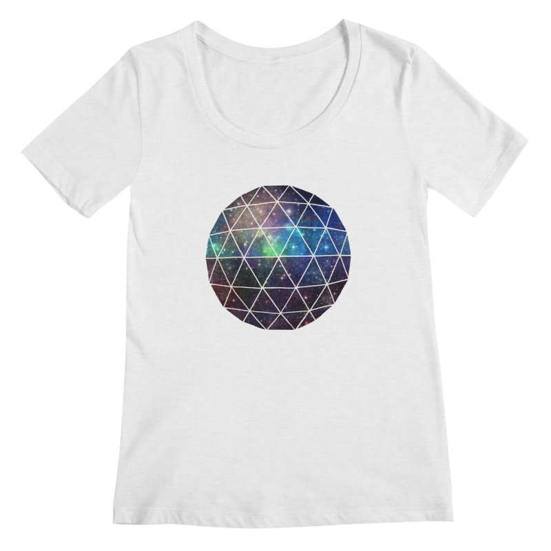 Space Geodesic Women's Scoopneck by terryfan