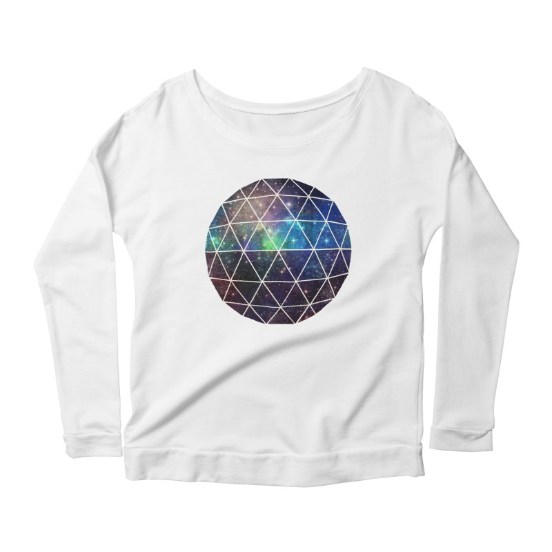 Space Geodesic Women's Longsleeve Scoopneck  by terryfan