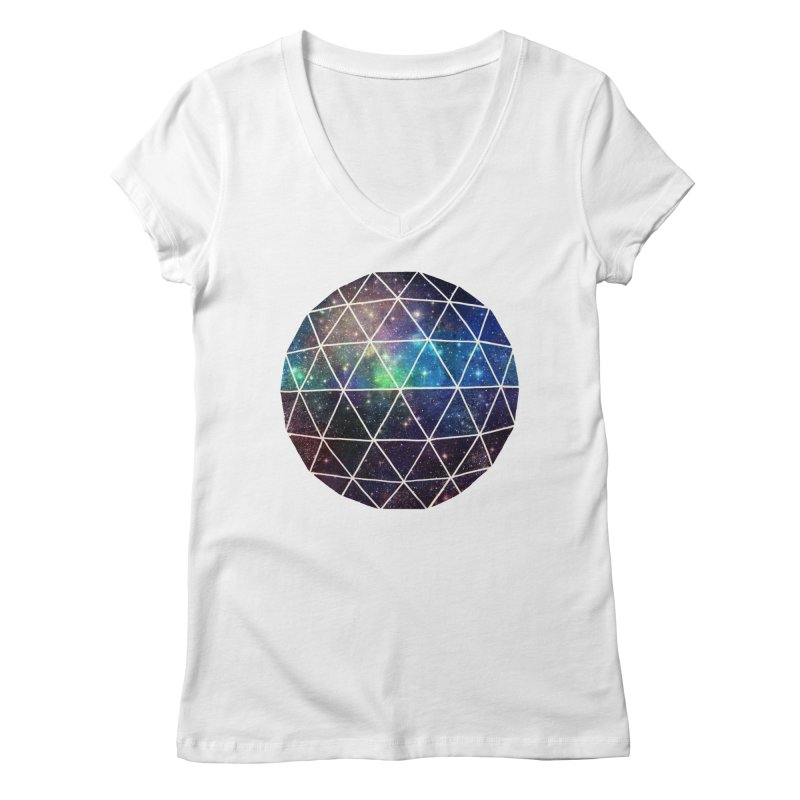 Space Geodesic Women's V-Neck by terryfan