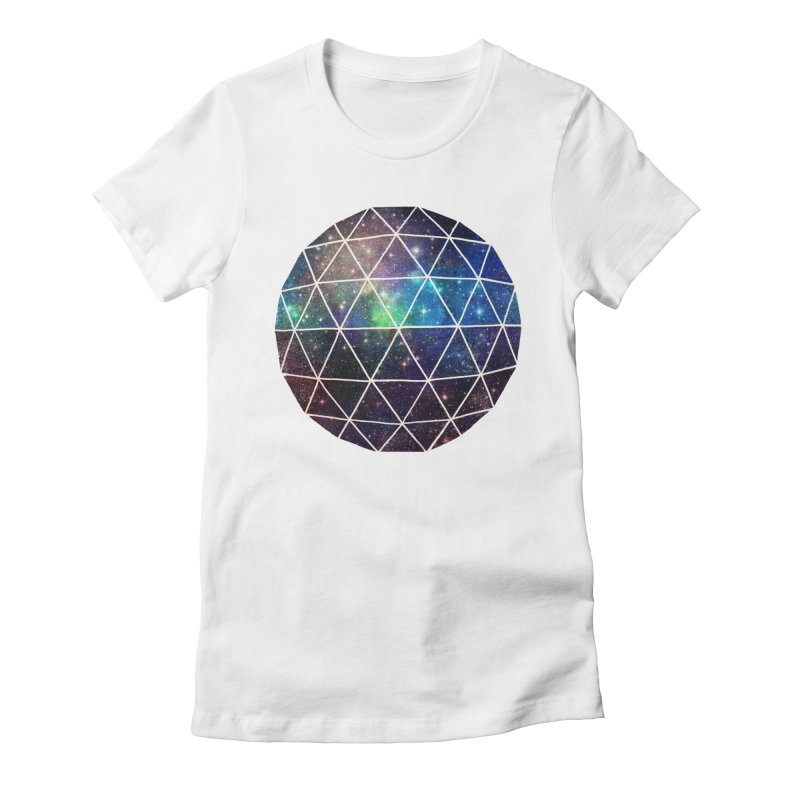 Space Geodesic Women's Fitted T-Shirt by terryfan