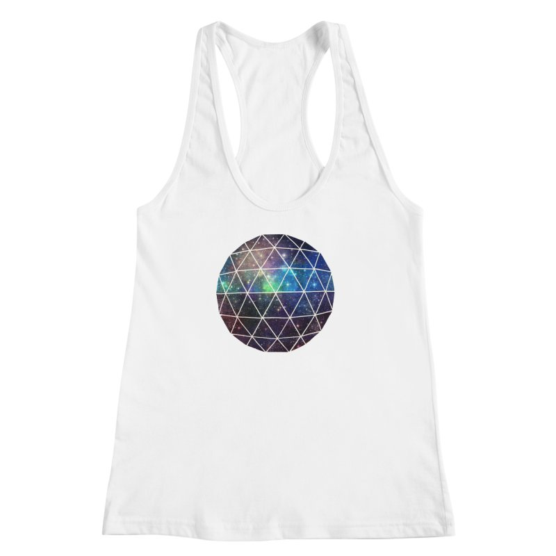 Space Geodesic Women's Racerback Tank by terryfan