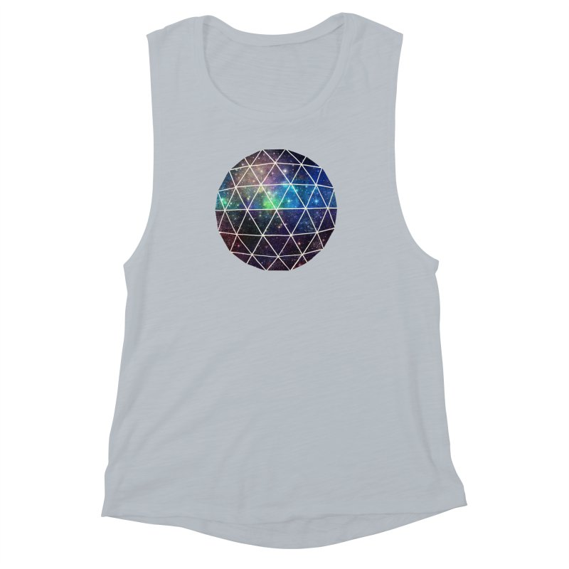 Space Geodesic Women's Muscle Tank by terryfan