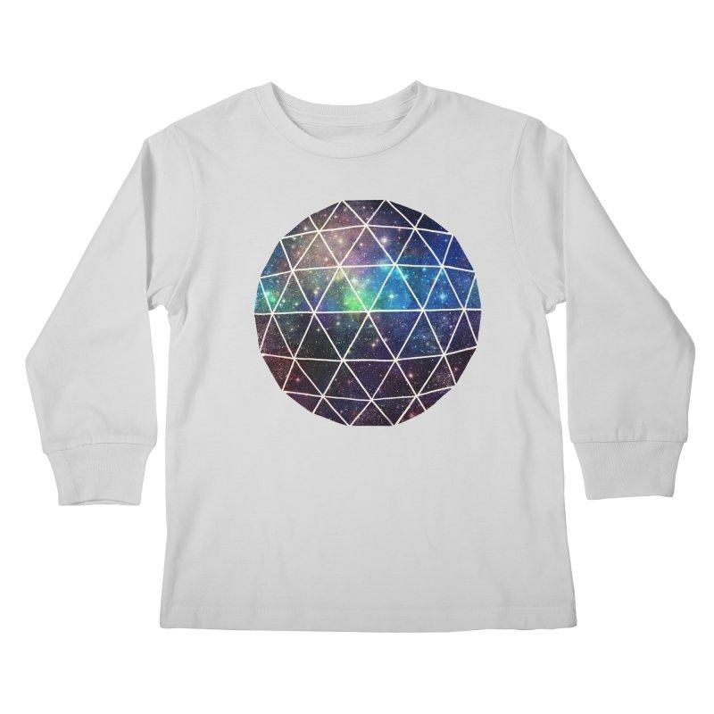Space Geodesic Kids Longsleeve T-Shirt by terryfan