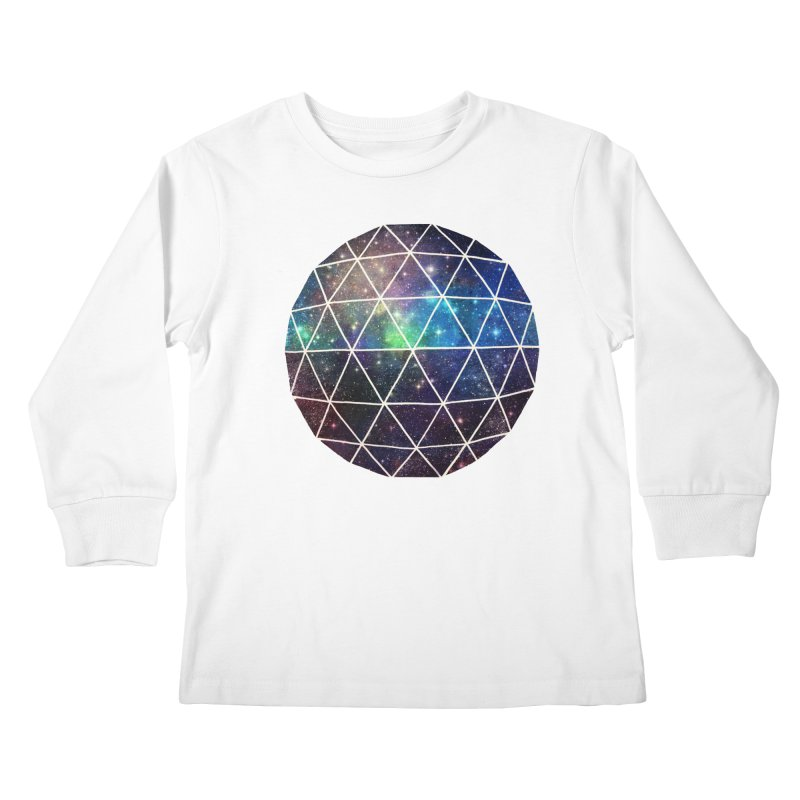 Space Geodesic Kids Longsleeve T-Shirt by terryfan