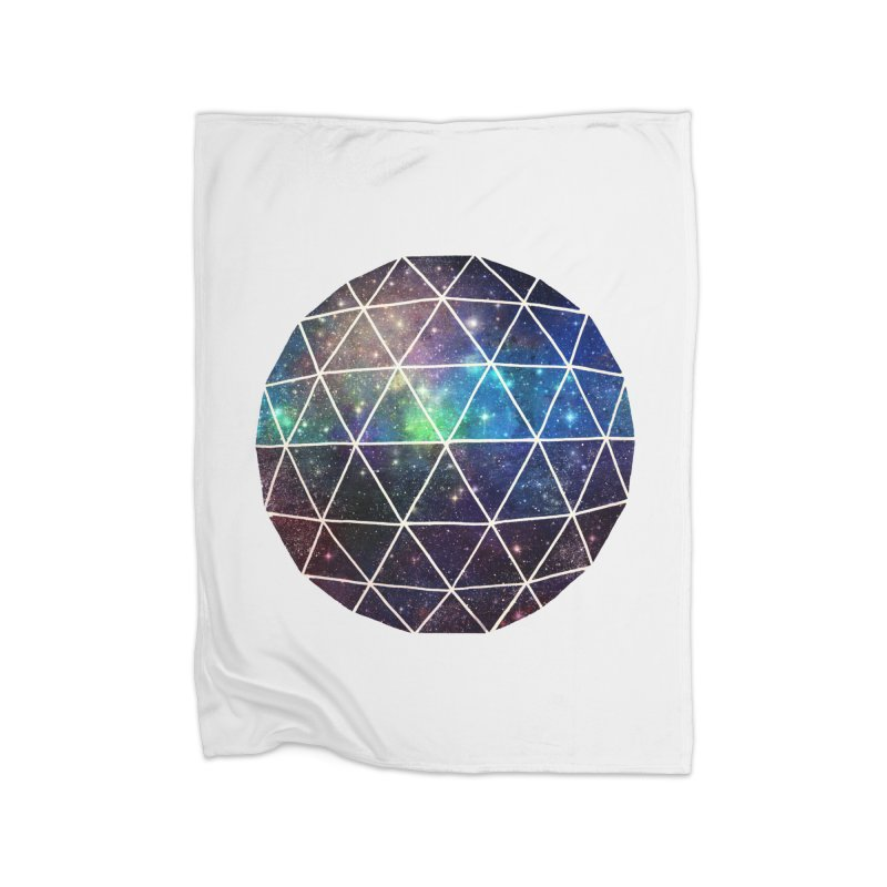 Space Geodesic in Fleece Blanket Blanket by terryfan