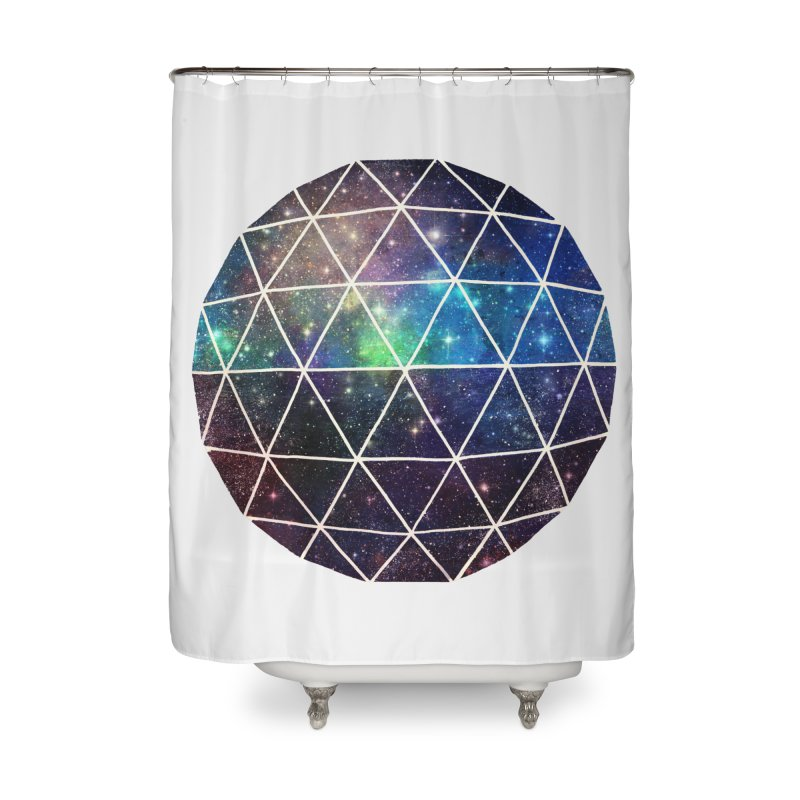 Space Geodesic Home Shower Curtain by terryfan