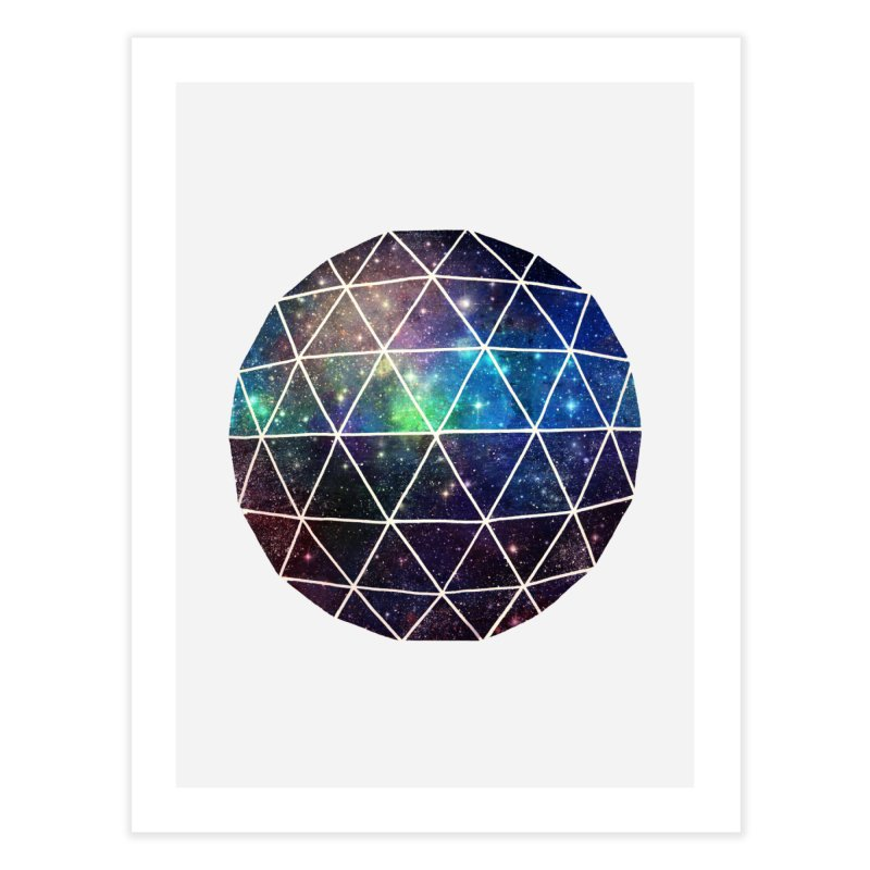 Space Geodesic Home Fine Art Print by terryfan