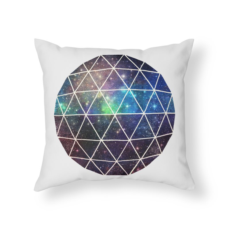 Space Geodesic Home Throw Pillow by terryfan