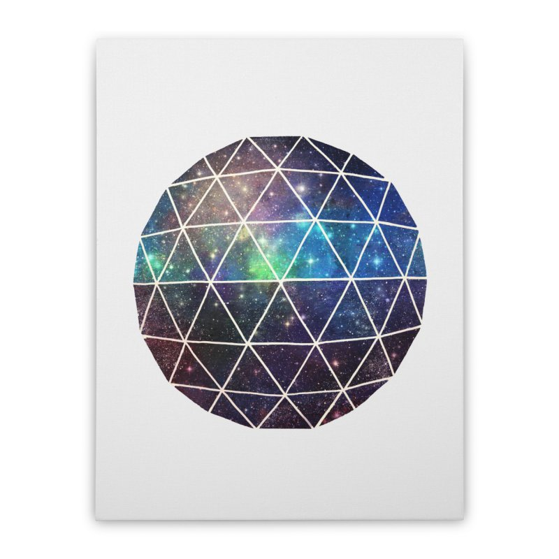 Space Geodesic Home Stretched Canvas by terryfan