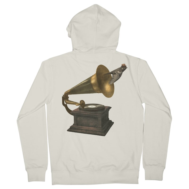 Vintage Songbird Men's Zip-Up Hoody by terryfan