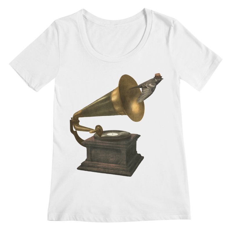Vintage Songbird Women's Scoopneck by terryfan