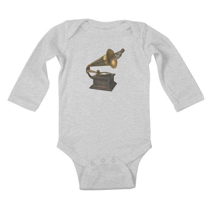 Vintage Songbird Kids Baby Longsleeve Bodysuit by terryfan