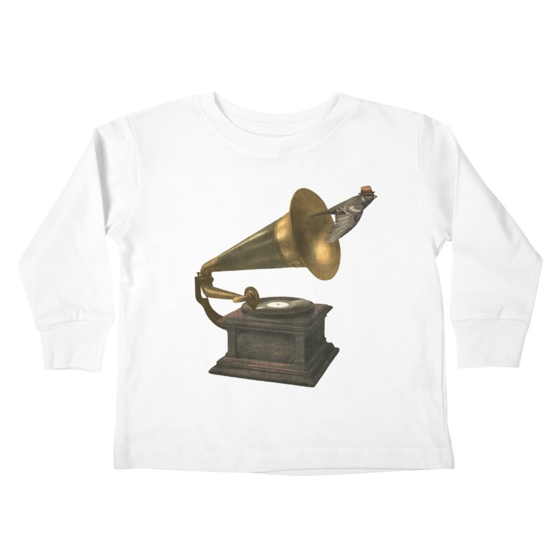 Vintage Songbird Kids Toddler Longsleeve T-Shirt by terryfan