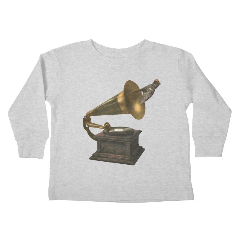 Vintage Songbird Kids Toddler Longsleeve T-Shirt by terryfan