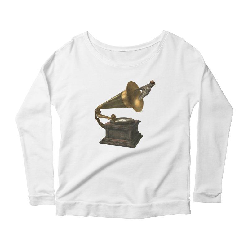Vintage Songbird Women's Scoop Neck Longsleeve T-Shirt by terryfan