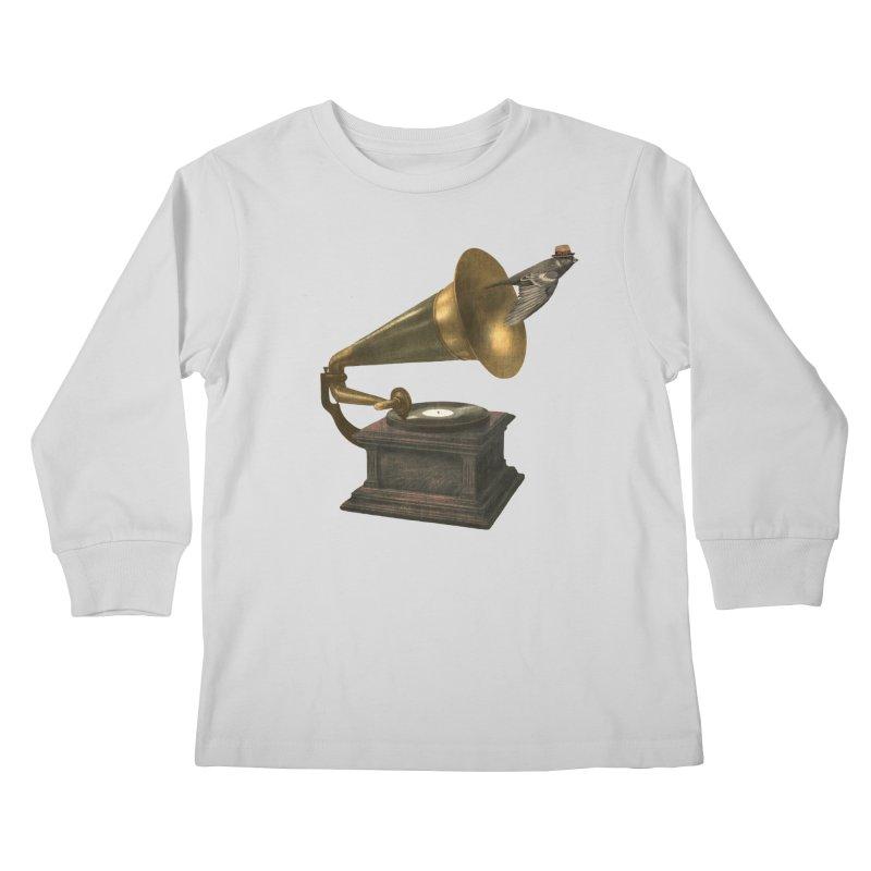 Vintage Songbird Kids Longsleeve T-Shirt by terryfan