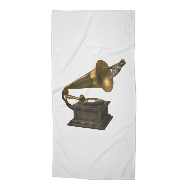 Vintage Songbird Accessories Beach Towel by terryfan