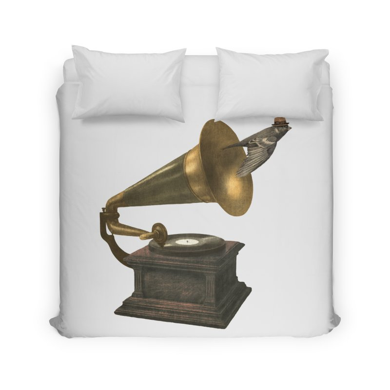 Vintage Songbird Home Duvet by terryfan